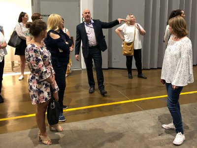 Executive Certificate in Business and Public Event Management, behind the scenes tour of Melbourne Convention and Exhibition Centre October 2018
