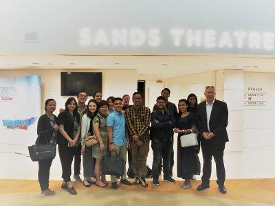 Executive Certificate in Business and Public Event Management behind the scenes excursion at Marina Bay Sands, Singapore