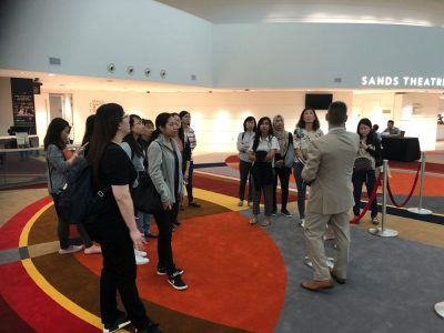 Executive Certificate in Event Management participant site visit to Marina Bay Sands, Singapore, November 2019